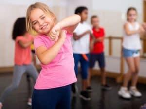 teaching dance class